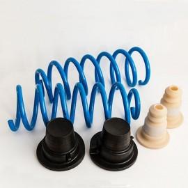 La foto raffigura due molle e quattro tamponi per il kit di trasformazione Citroen C4